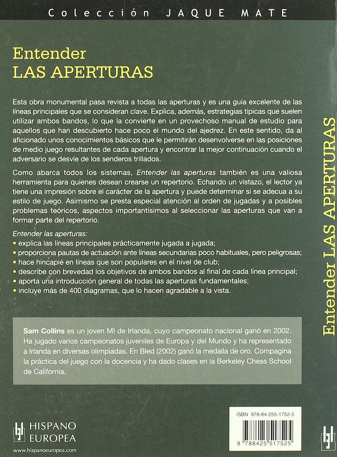 Entender las aperturas/ Understand openings (Ajedrez) (Spanish Edition): Sam Collims: 9788425517525: Amazon.com: Books