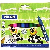 Milan 80020 MAXI Kalın Uçlu Keçeli Boya Kalemi( 12'li)