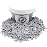 1 OZ Mica Powder in Containers Epoxy Resin Pigment for DIY Soap Making Bath Bomb Colorant Paint Nail Art Eyeshadow Dye (SILVE