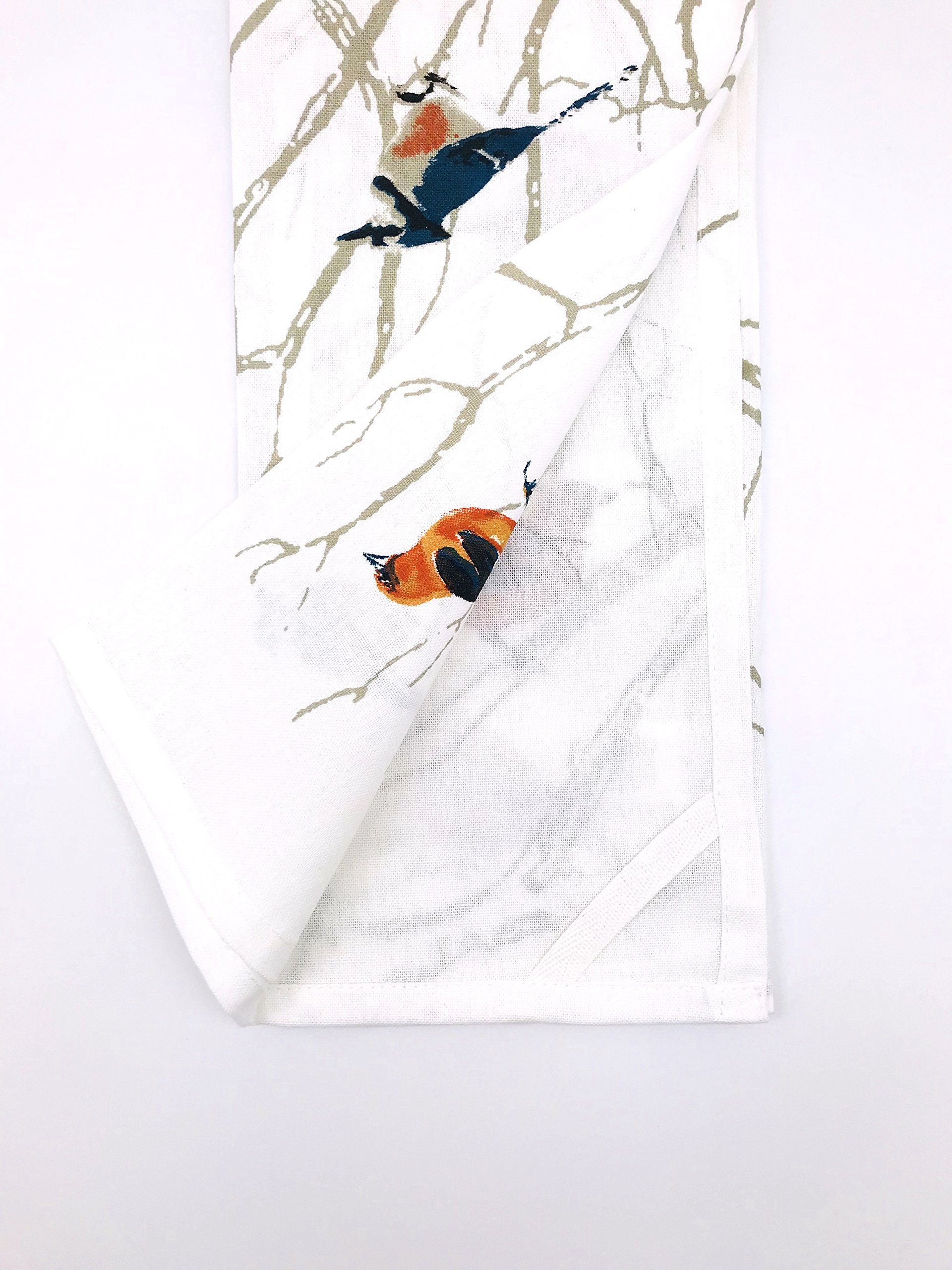 INDIA OVERSEAS Bird Watching Hand Towels: Colorful Artistic Wildlife Design, Set of 2 by INDIA OVERSEAS (Image #2)