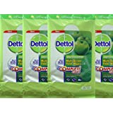 4 Packs Dettol Anti-Bacterial Multi-Action Floor Wipes (Each Pack Contains 15 Extra Large Wipes)