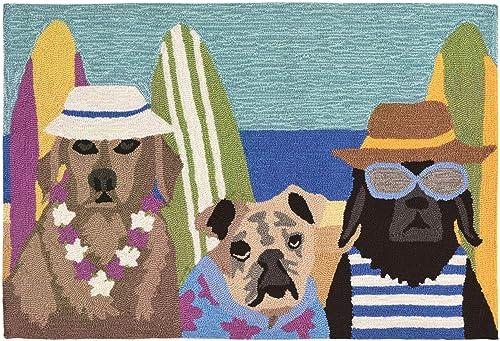 Liora Manne Frontporch Indoor Outdoor Rug, 2 x 3 , Beach Patrol