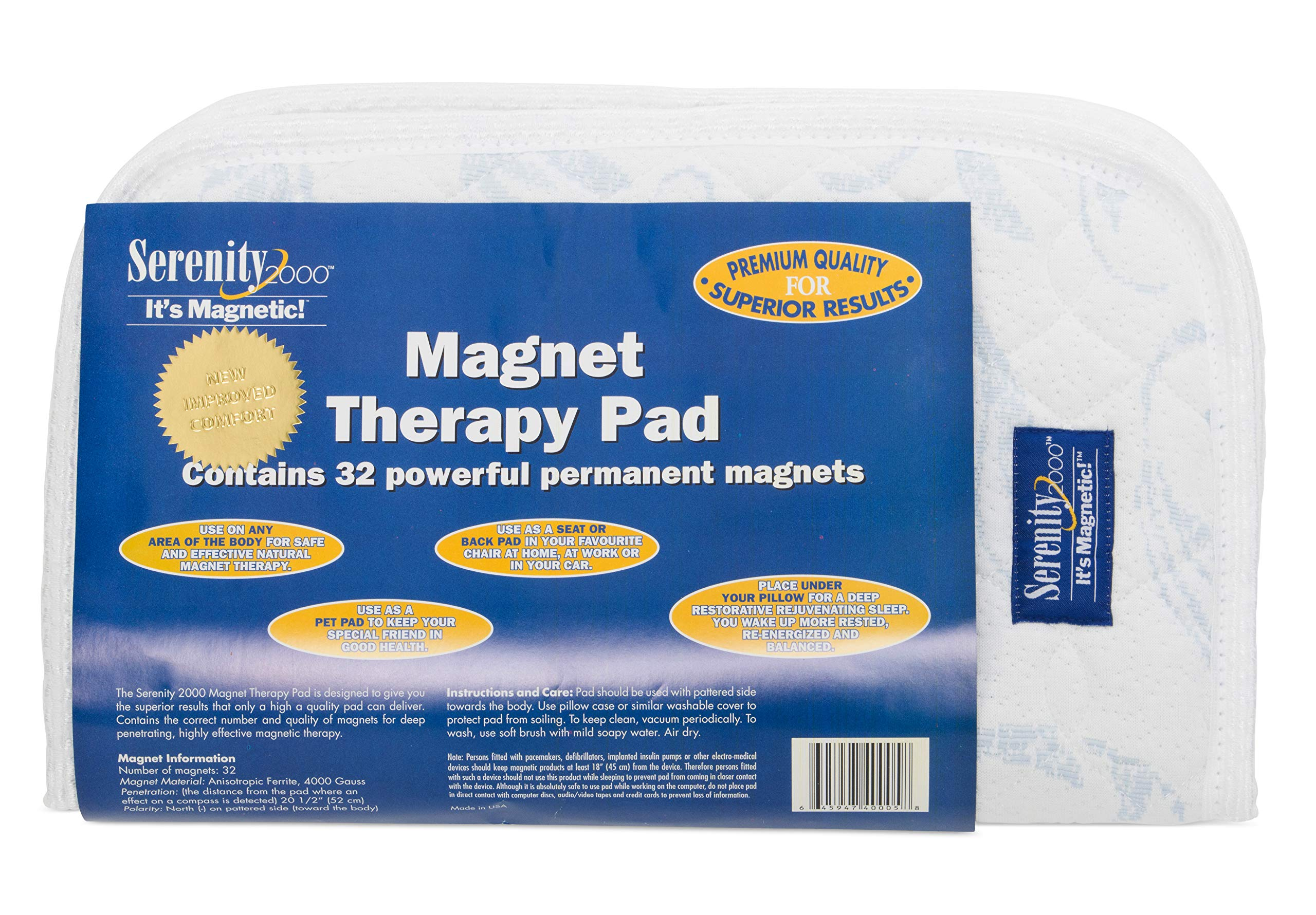 Magnetic Therapy Pad for Improved Sleep and Wellness by SERENITY2000