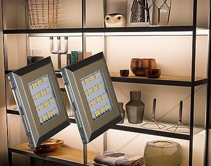 LED Unterbauleuchten 2-er Set / Alu / Lichtfarbe kalt weiß / Art ...