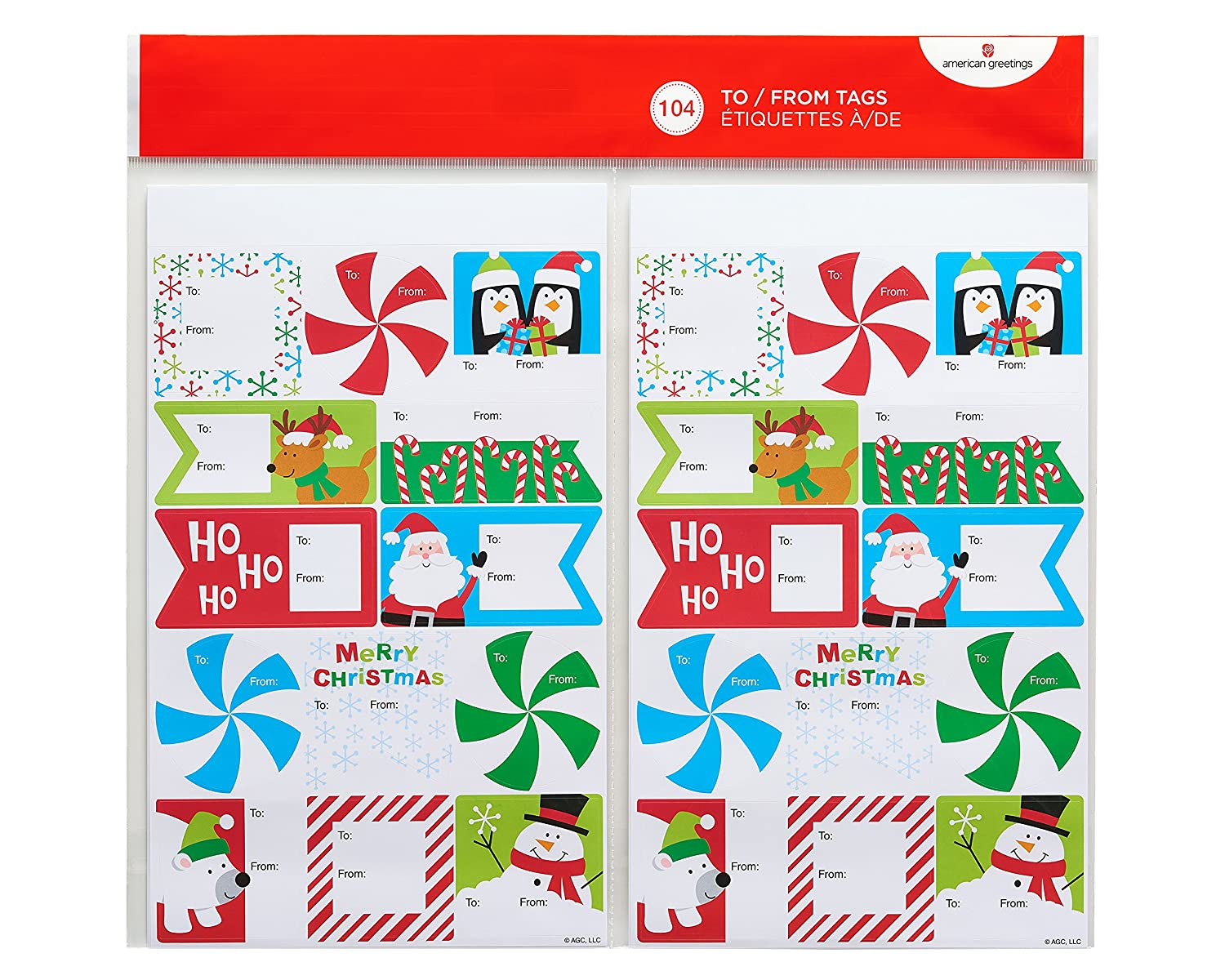 American Greetings Christmas Fun To and From Sticker Sheets 8 Count American Greetings Corporation 5914928