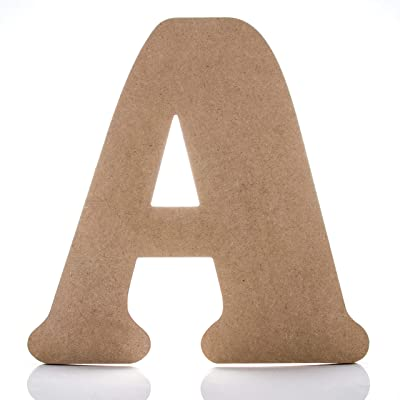 "12"" Wooden Letter A - Large Wall Decor Letters: Arts, Crafts & Sewing"