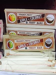 Trader Joe's Gluten Free Apple + Coconut Fruit Bars (Pack of 12)