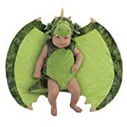 Princess Paradise Baby Swaddle Wings Drooly Drac Deluxe Costume, Darling Dragon, 0 to 3 Months