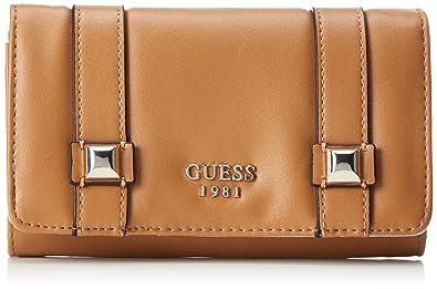 Guess - Slg Wallet, Carteras Mujer, Marrón (Tan), 3x10x17 cm (