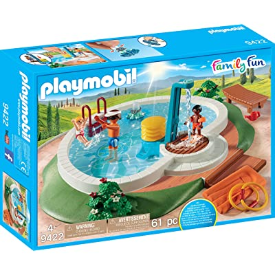 PLAYMOBIL Swimming Pool: Toys & Games