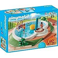 Playmobil Family Fun Swimming Pool, Multi-Colour, 9422