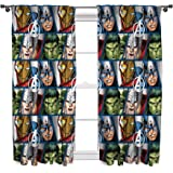 Character world 54-Inch Disney Marvel Avengers Shield Curtains, Multi-Colour