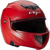 Vega Crux CRX-R-M Flip-up Helmet (Red, M)