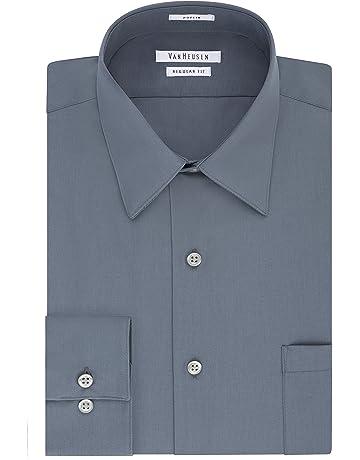 a7dfe739f7e Van Heusen Men s Dress Shirt Regular Fit Poplin Solid