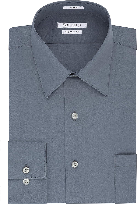 Van Heusen Men's Shirt Regular Fit Poplin Solid