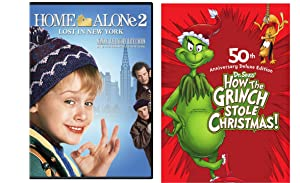 How the Grinch Stole Christmas (50th Anniversary Deluxe Edition) & Home Alone 2 2-DVD Christmas Bundle