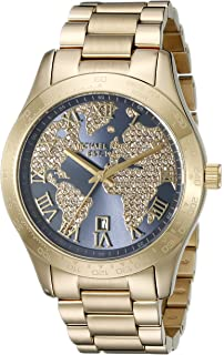 Michael Kors Womens Layton Gold-Tone Watch MK6243