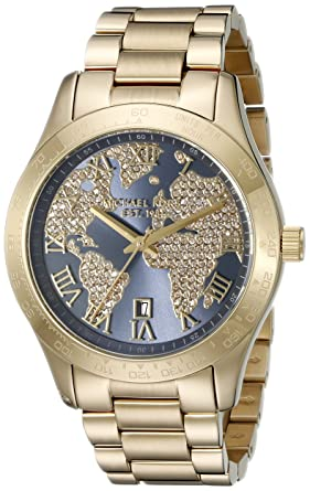 5e8f8c507105 Image Unavailable. Image not available for. Color  Michael Kors Women s  Layton Gold-Tone Watch MK6243