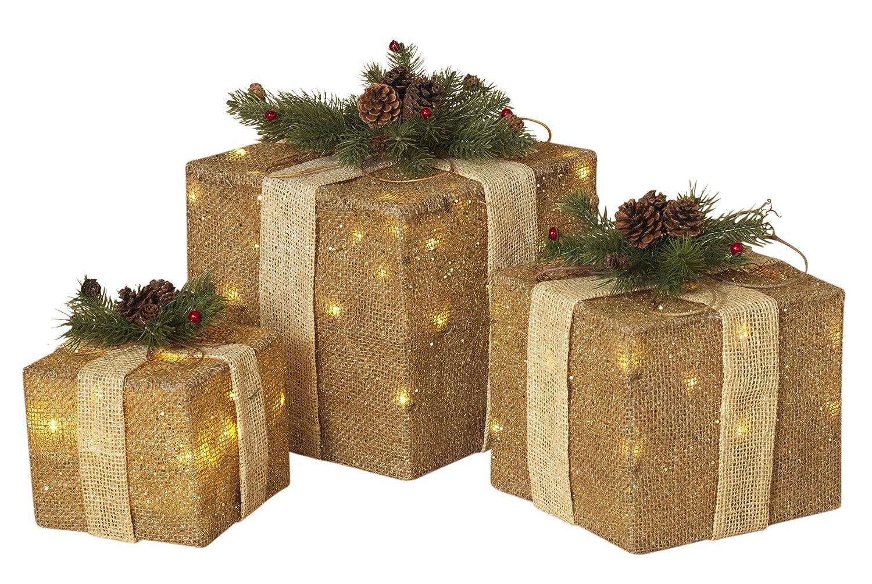 large christmas present decorations. Black Bedroom Furniture Sets. Home Design Ideas