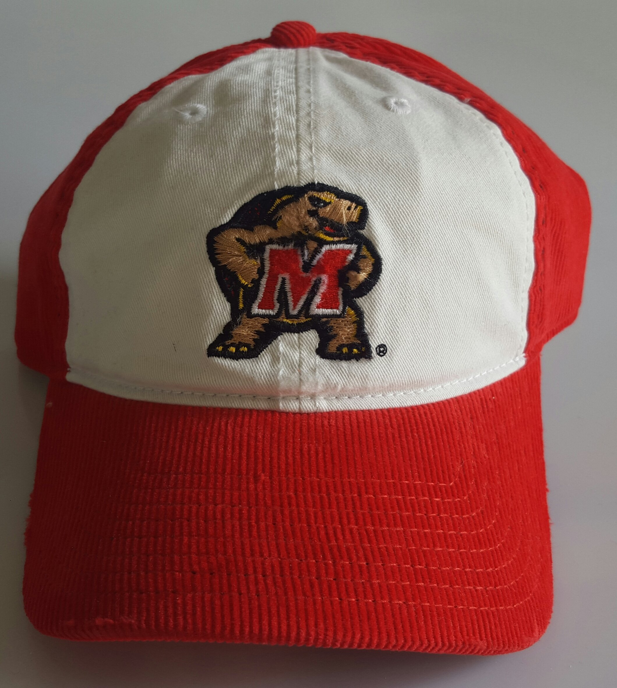 NCAA New Maryland Terps Embroidered Red Corduroy Adjustable Cap