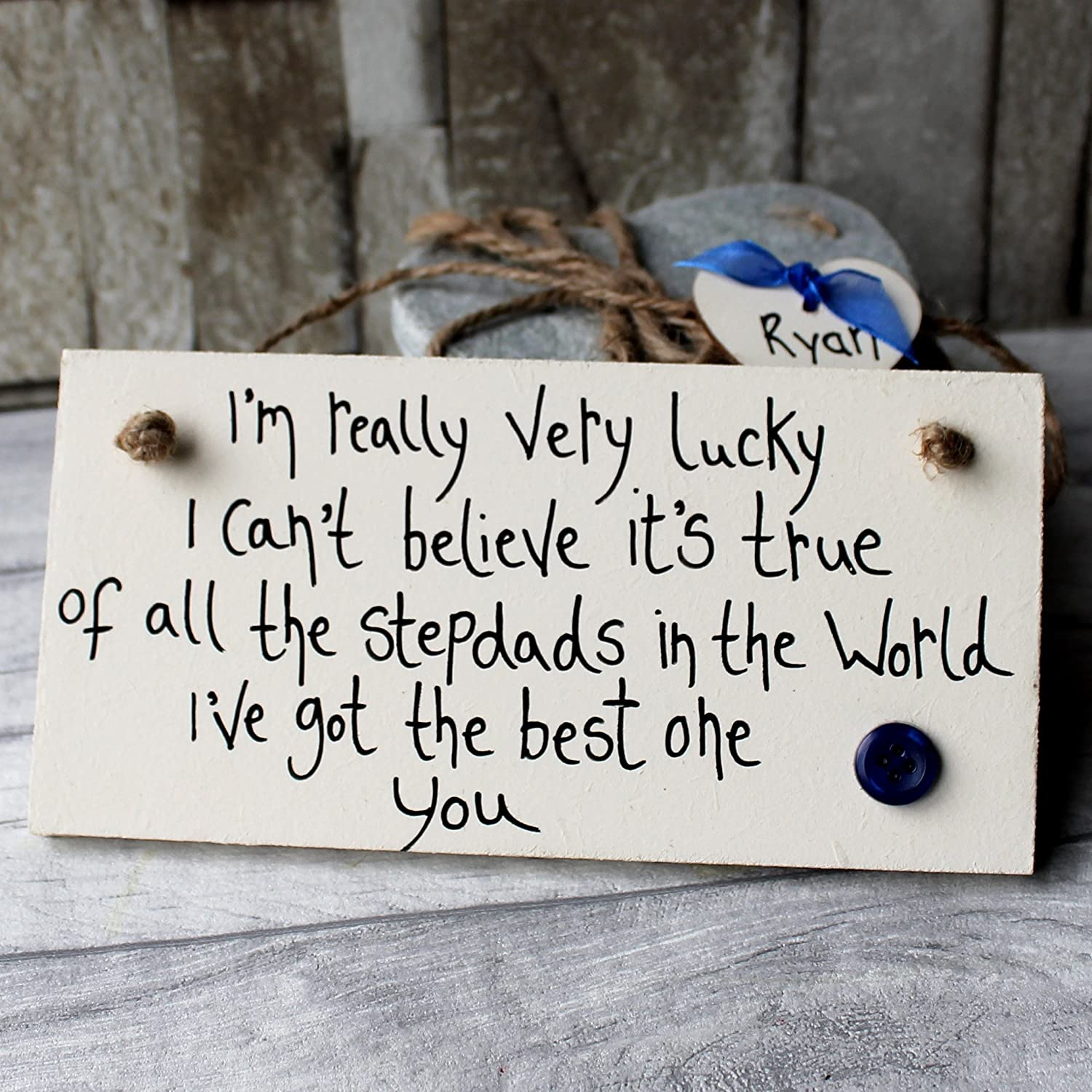 Beautiful Hand Made Plaque Husband Dad Daddy Stepdad Fathers Day Gift Sign
