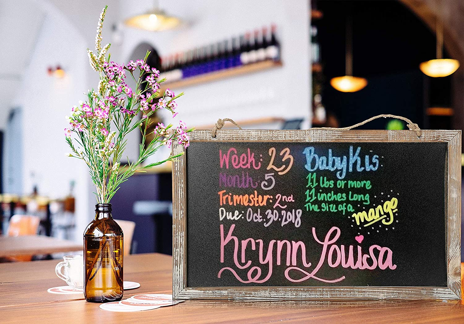 Chalkboard Sign-Vintage Framed Kitchen Chalkboard-Decorative Chalk Board for Rustic Wedding Signs 3, 10.517.5 in Kitchen Pantry /& Wall Decor cade-one CALIFORNIA CADE ELECTRONIC Chalkboard