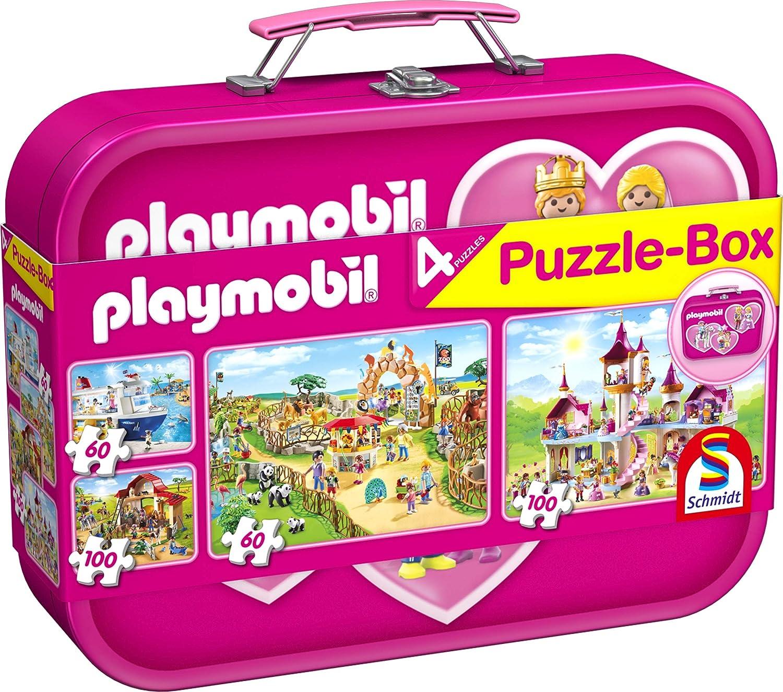 Schmidt Spiele- Puzzle-Box: Playmobil 56498-Puzzle, Color Rosa (56498)