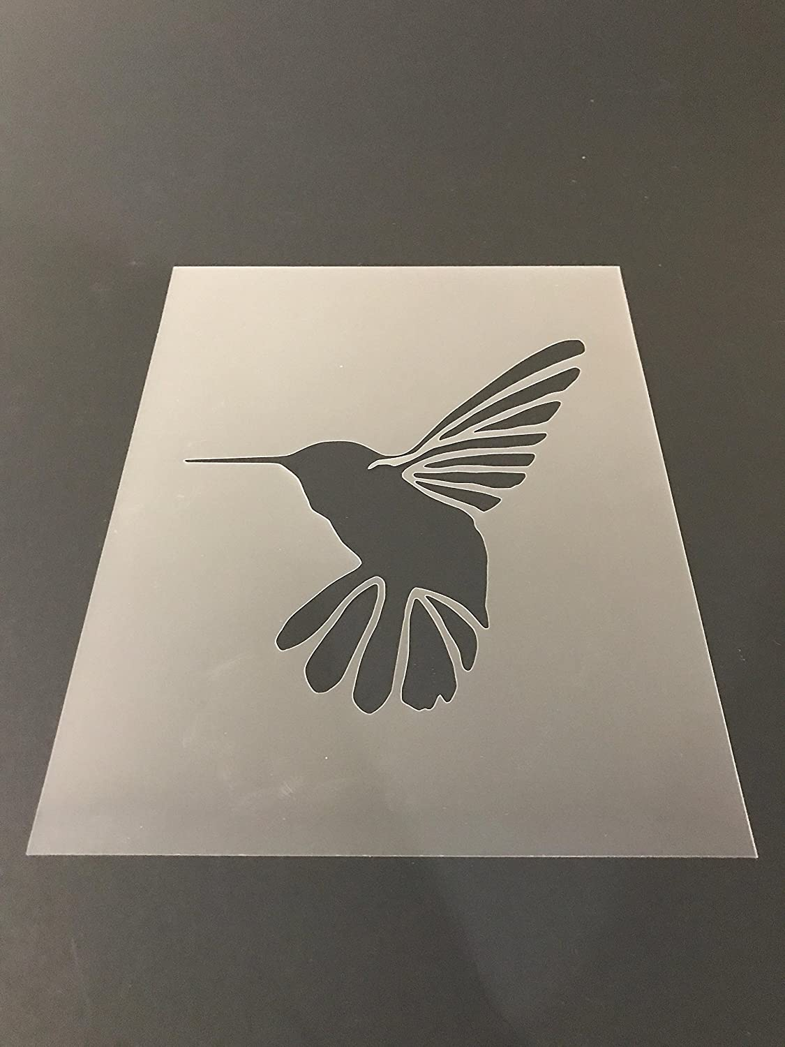 Humming Bird Stencil #2 Reusable 10 mil Thick 7in x 9in sheet