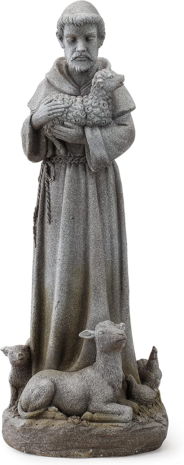 """Napco 11152 St. Francis with Animals Garden Statue, 28"""""""