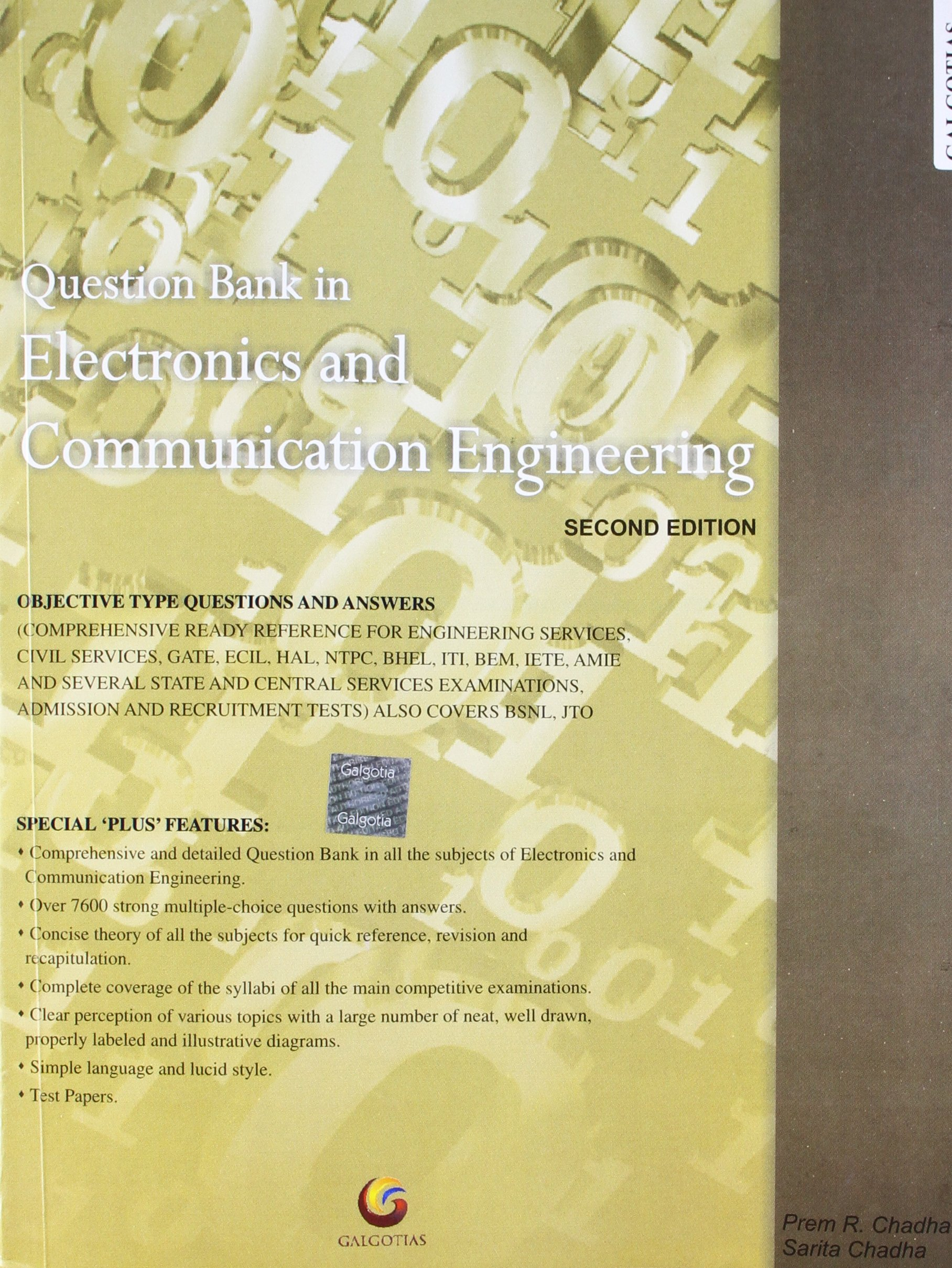 Buy Question Bank in Electronics and Communication Engineering Book