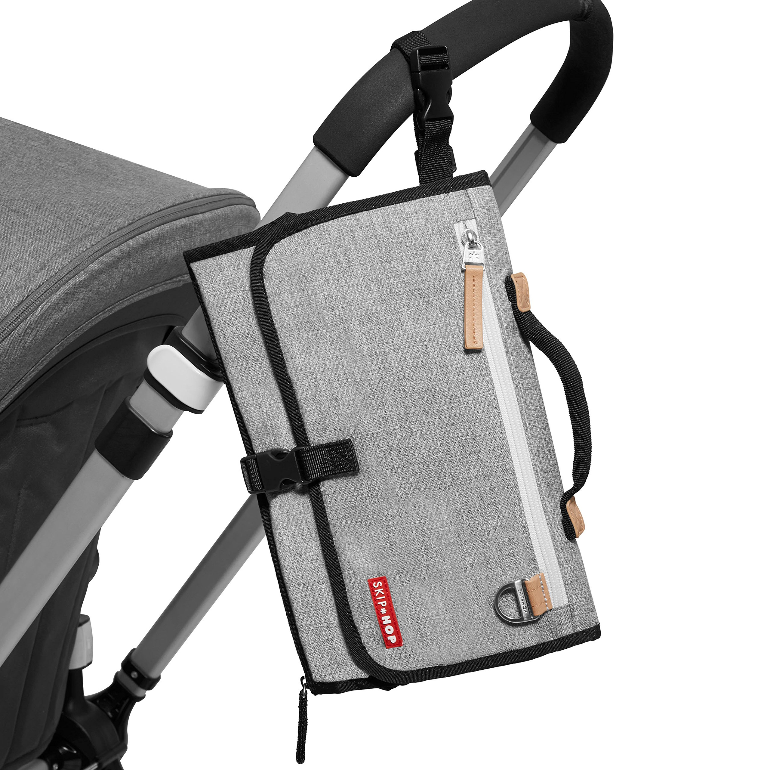 Skip Hop Pronto Signature Portable Changing Mat, Cushioned Diaper Changing Pad with Built-in Pillow, Grey Melange by Skip Hop (Image #7)