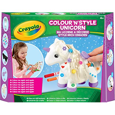 Crayola Colour n Style Unicorn Craft Kit with Washable Felt Tip Colouring Pens: Toys & Games