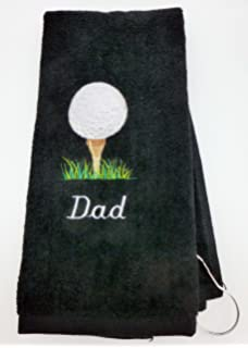 Amazon.com   Personalized Golf Towel for men Custom Embroidered with ... 6186dc1d9382d
