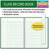 Class Record Book for 6-8 Weeks. 36 Names. Large