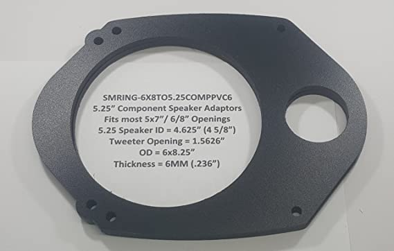 """5/""""x7/"""" 6x8/"""" to 6.5/"""" speaker adapter Plate Mounting Adapters Brackets"""