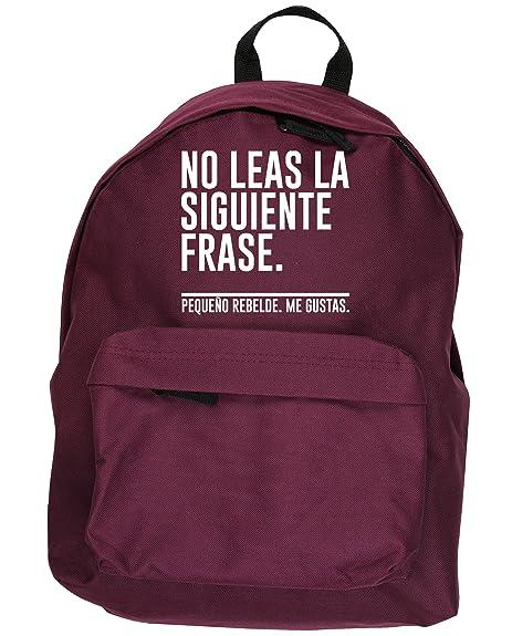 HippoWarehouse No Leas la Siguiente Frase. Pequeño Rebelde. Me Gustas kit mochila Dimensiones: 31 x 42 x 21 cm Capacidad: 18 litros: Amazon.es: Zapatos y ...