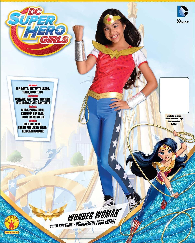 DC Comics - Disfraz de Wonder Woman licencia oficial para niña, infantil talla3-4 años (Rubies 620716-S): Amazon.es: Juguetes y juegos