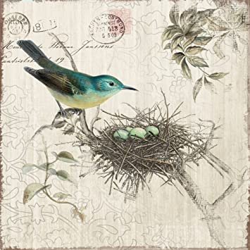 yosemite home decor yf7255a nesting i postage stamp linen print artwork - Yosemite Home Decor