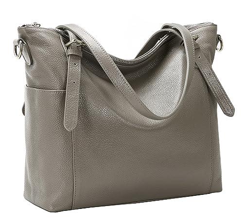 Amazon.com: kenoor Leather bolsa Bolsa de hombro cuerpo cruz ...