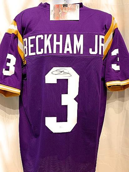 half off 5ecbd ae1b4 Odell Beckham Jr LSU Tigers Signed Autograph Custom Jersey ...