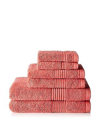 Chortex – Toallas (lino Ultimate Zero Twist 100% algodón turco tamaño grande rosa toalla