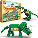 SmartEmily Cubb Toys, Grand Dinosaurs 6in1 Dinosaur Toy Set, Building Blocks for Boys and Girls, Build a T-rex…