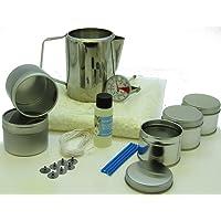 Kit de fabrication de bougies à la cire de soja5moules, parfum, 500g en cire de soja, une carafe et un thermomètre.