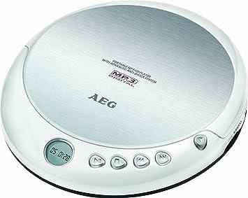 AEG CDP 4226 - Reproductor de CD portátil (CD-R/-RW, Pantalla LCD, Clavija Jack de 3,5 mm), Color Blanco: AEG: Amazon.es: Electrónica