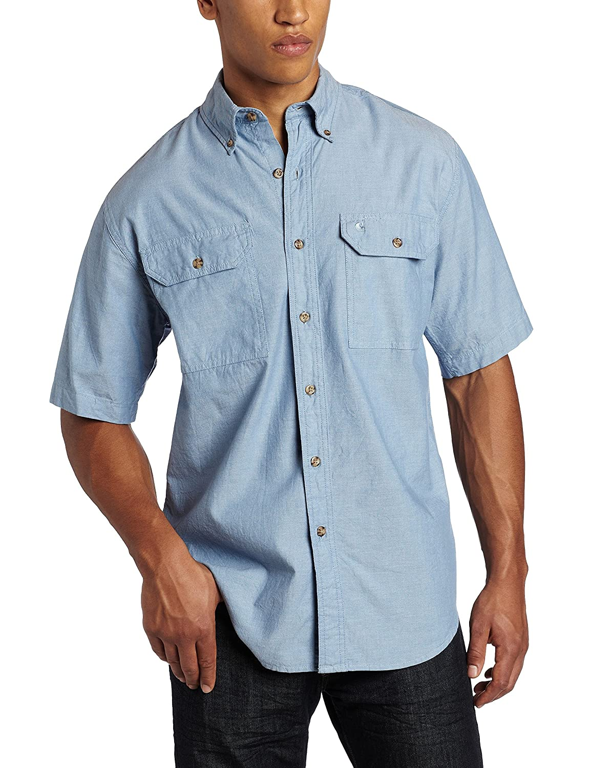 Amazon.com: Carhartt Men's Fort Short-Sleeve Shirt Lightweight ...