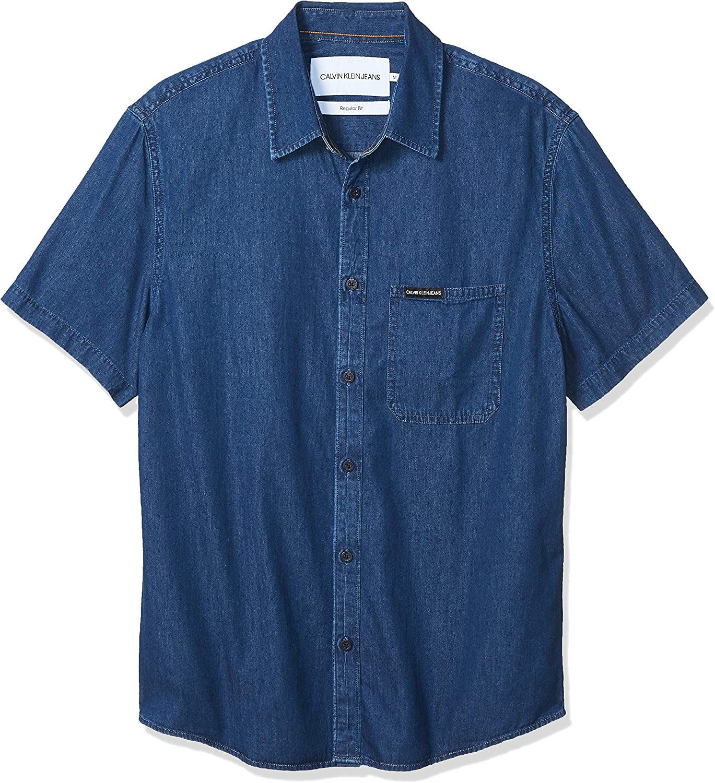 Calvin Klein J30J311510 Camisa Hombre Denim XL: Amazon.es: Ropa y accesorios