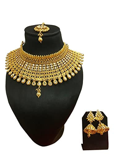 Amazoncom Crown Jewel Indian Traditional Gold Plated Wedding Party