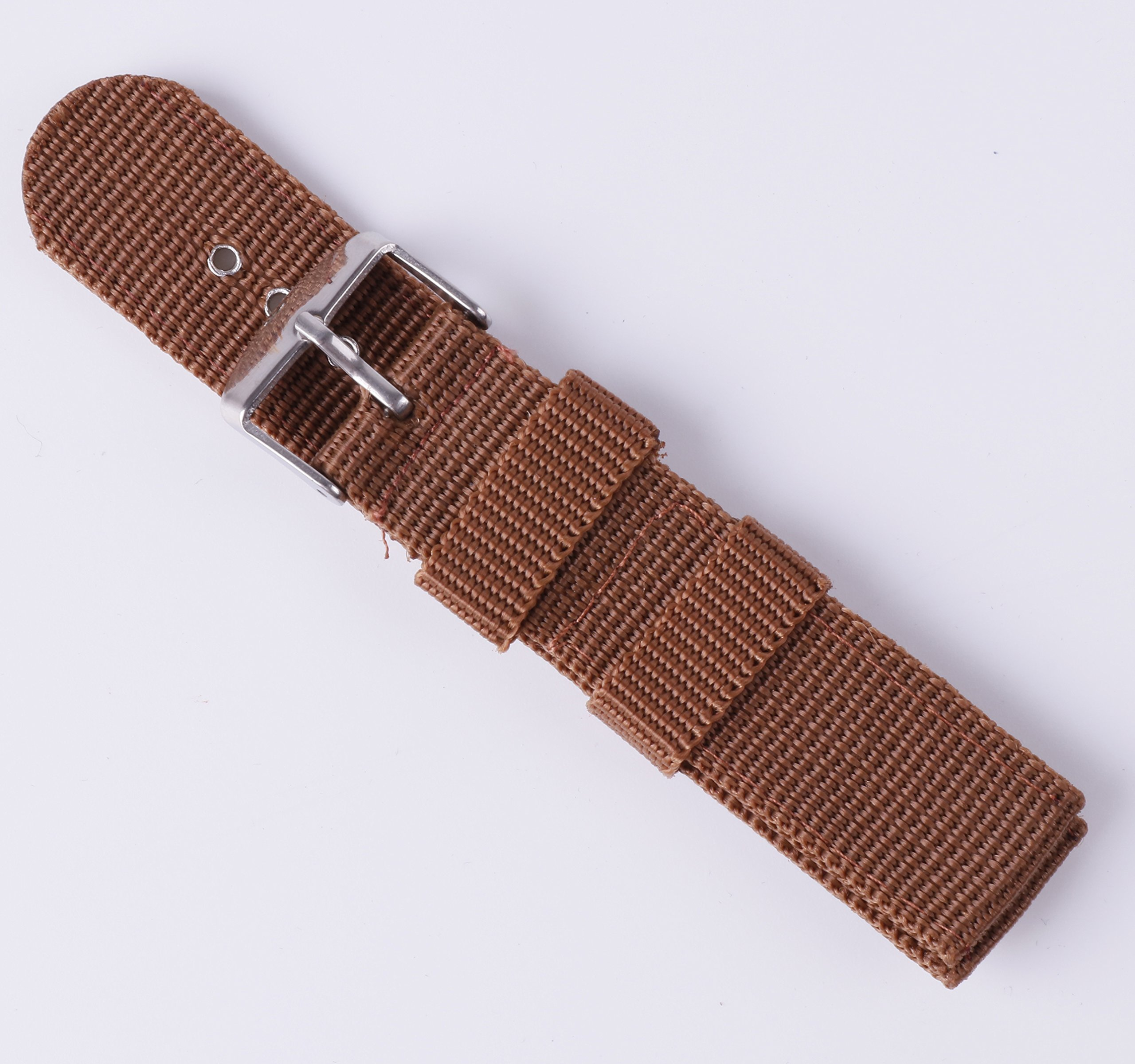 4pcs Nylon Watch Bands 16mm 18mm 20mm 22mm 24mm Premium Replacement NATO Style Watch Straps for Women Men by BONSTRAP (Image #4)