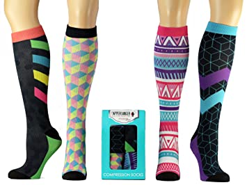 Compression Socks Women Best Sock for Nurses - Athletic Running - Airplane  Travel. Medical Varicose 4001ba7a688be