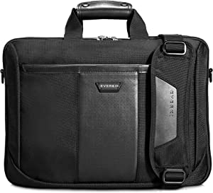 Everki Versa Premium Checkpoint Friendly Laptop Bag/Briefcase for 16-Inch MacBook (EKB427), Black